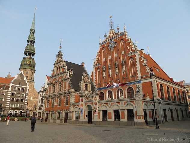 Riga place de l'hôtel de ville