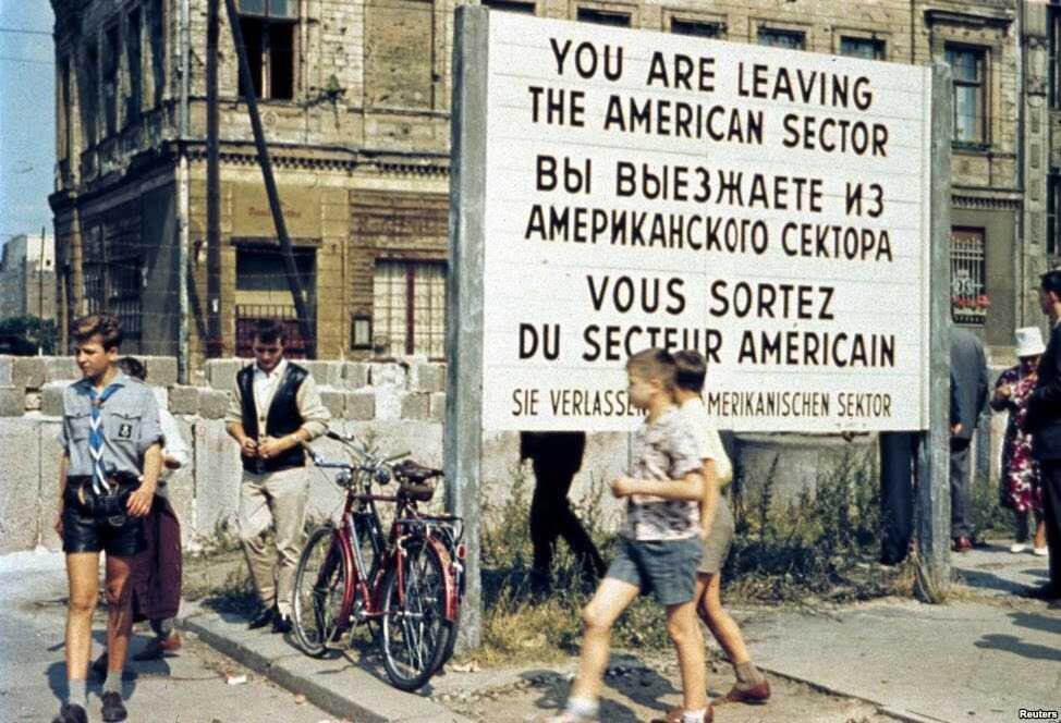 quitter le secteur américain à berlin pendant la crise du blocus