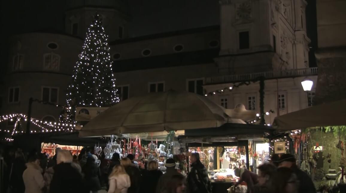 christkindlmarkt salzburg de nuit