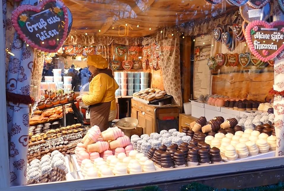 schaumkusse sur le marché de noel de vienne