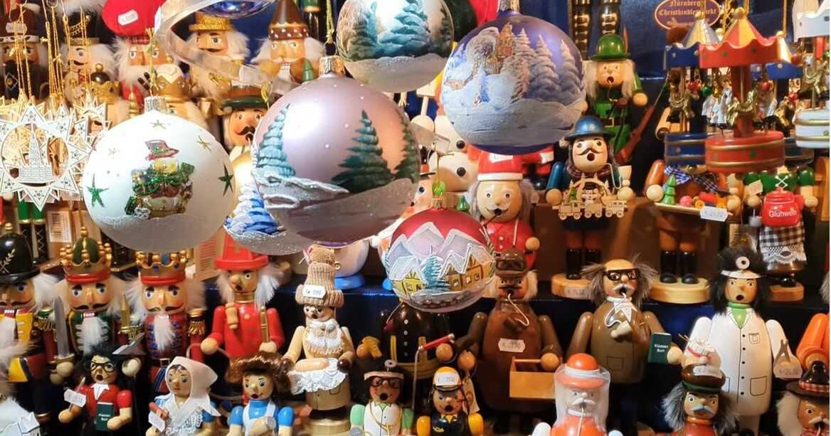 décorations de noel sur le nurnberger christkindlmarkt