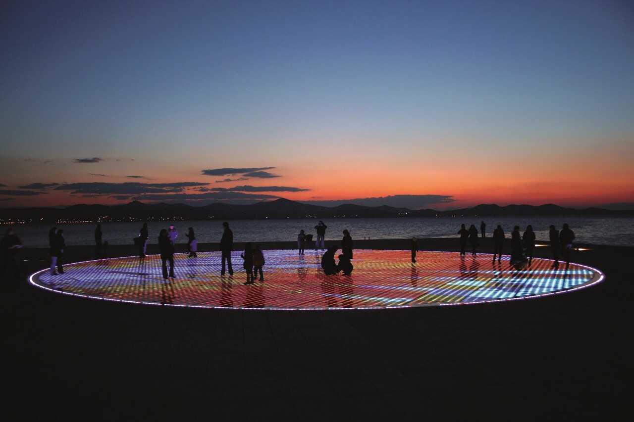 orgues marines au coucher du soleil à zadar