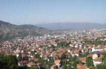 Sarajevo vue d'en haut depuis les collines