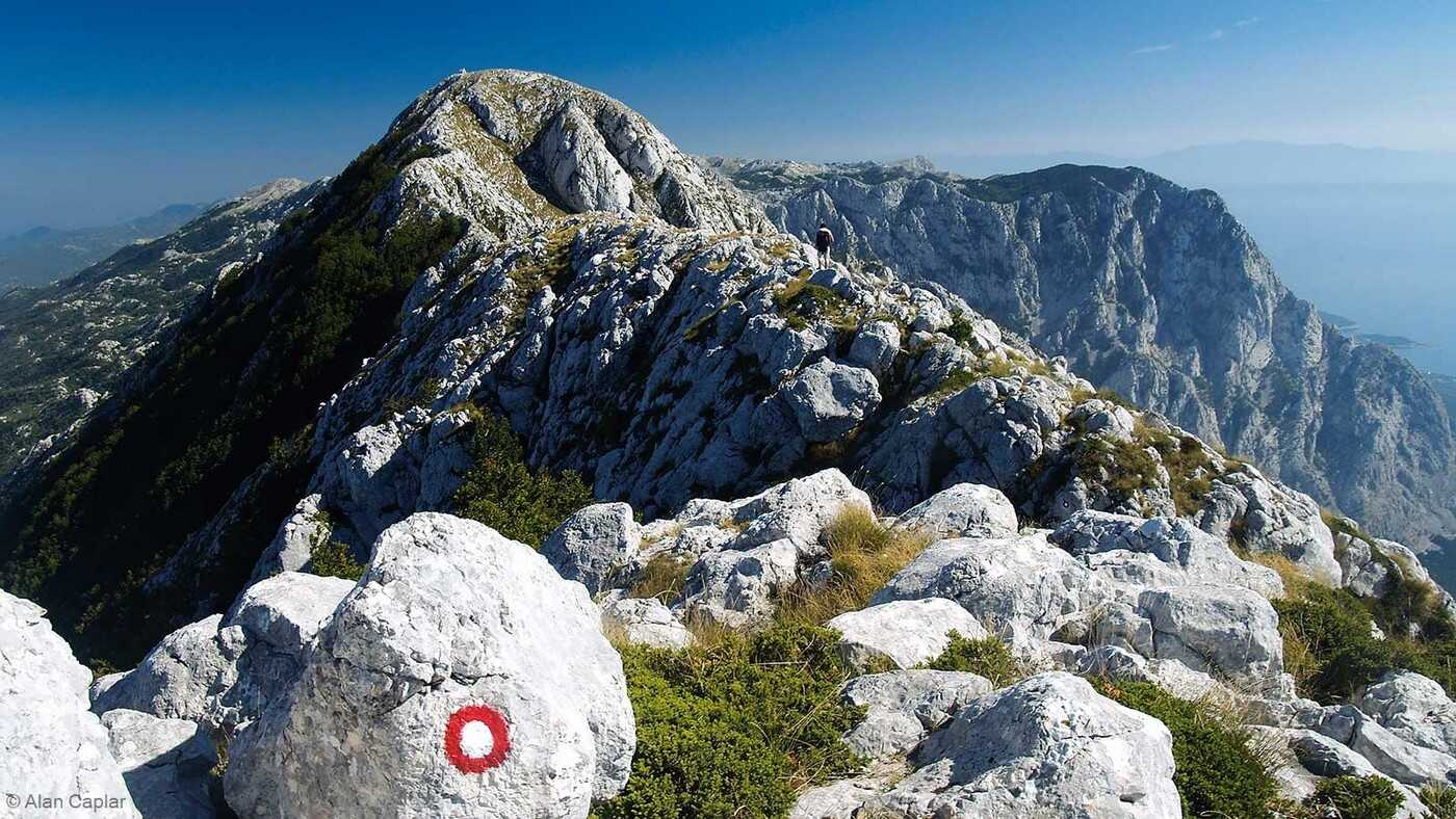 sveti ilija dans le massif de biokovo