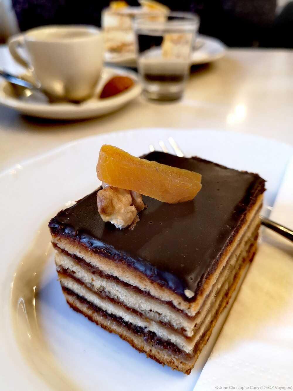 gâteau Zserbo au café Hauer