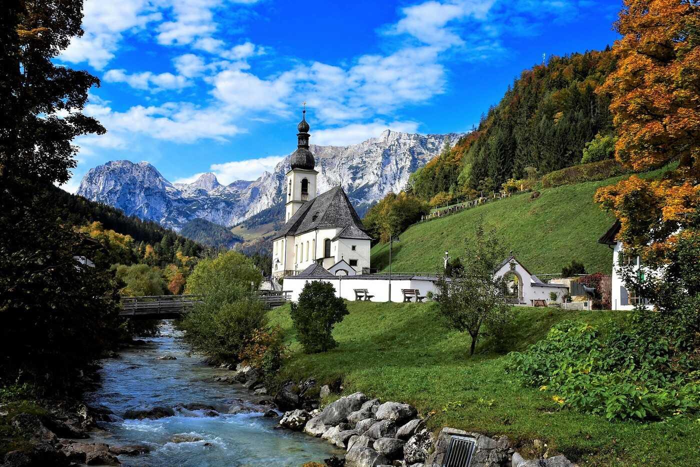 église de ramsau près de berchtesgaden