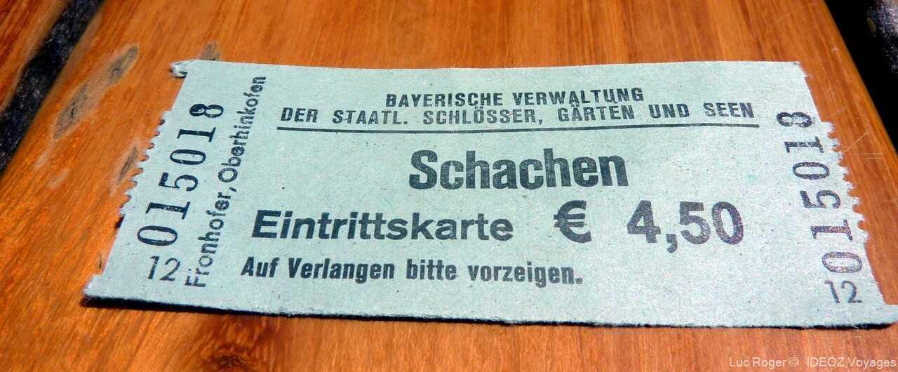 billet d'entrée pour la randonnée jusqu'au refuge schachenhaus
