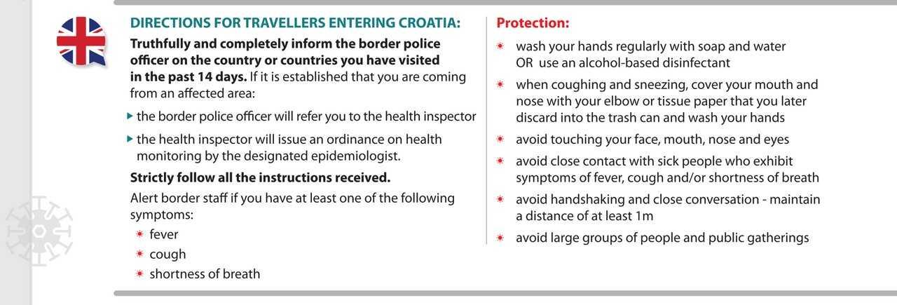 Coronavirus en Croatie : mesures face à l'épidémie du covid19 1