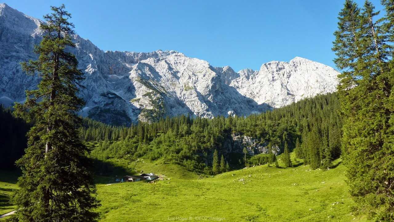 début de la randonnée d'Elmau vers la Schachenhaus