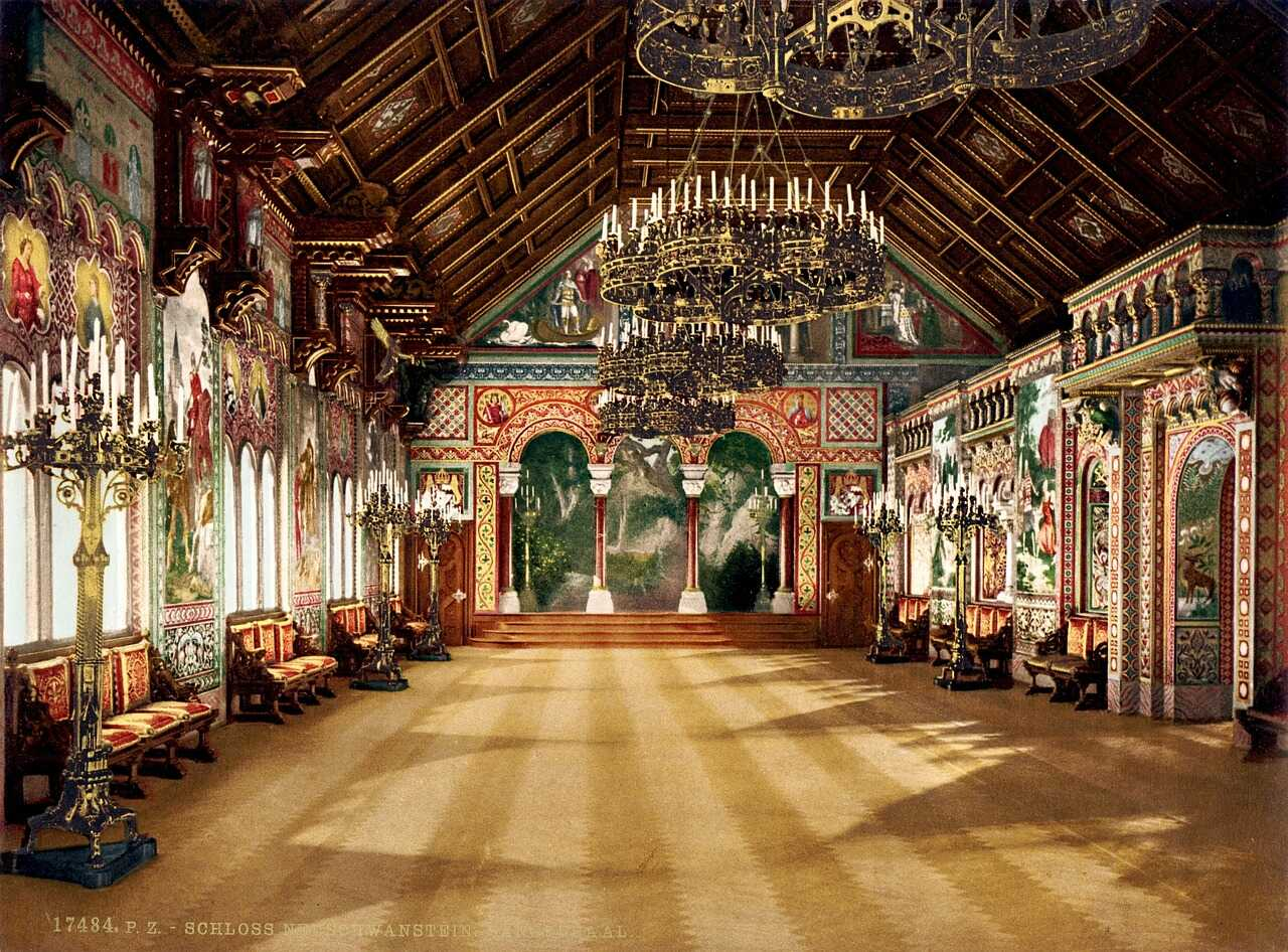 salle de la chanteuse au château de Neuschwanstein