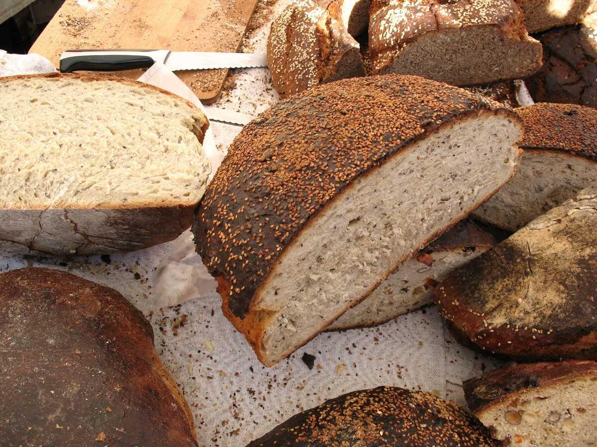 pains sur le marché central de riga