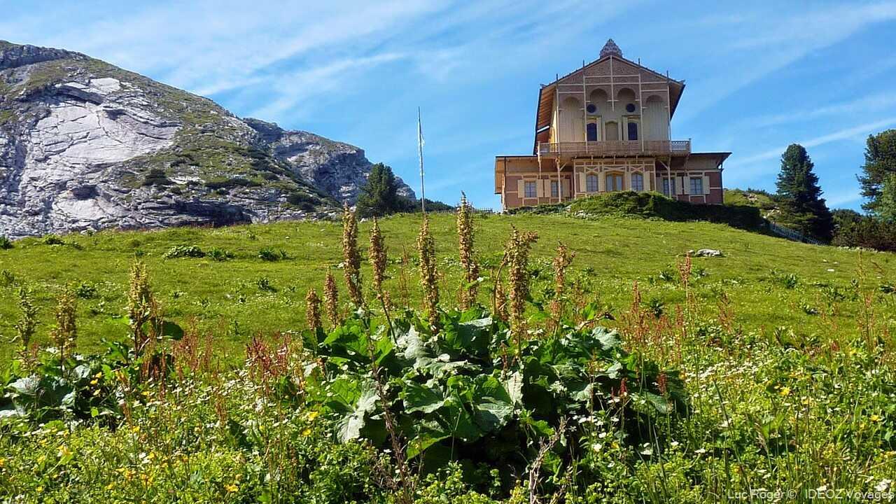 refuge alpin de Schachenhaus de louis 2 de bavière près de garmisch partenkirchen