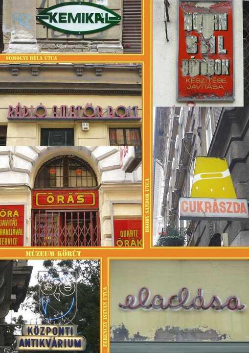 vieilles enseignes publicitaires à budapest