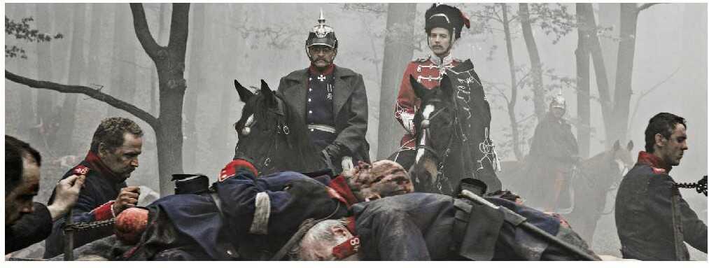 1864 Amour et trahisons en temps de guerre scène de boucherie après la bataille