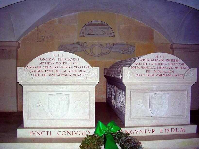 tombeaux de franz ferdinand de habsbourg et son épouse sophiede hohenberg
