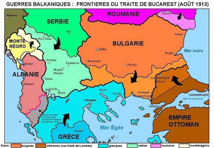 carte des guerres balkaniques