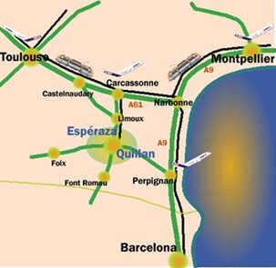 Haute Vallée de l'Aude - carte
