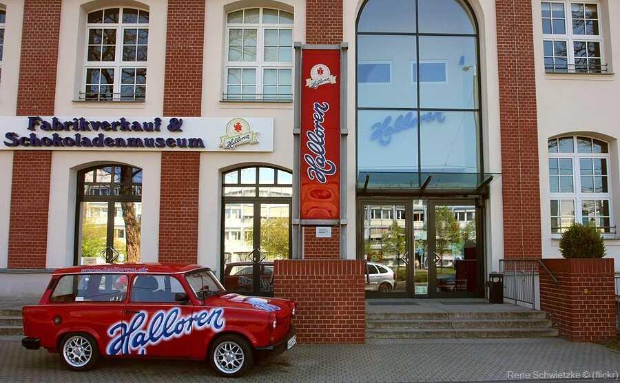 Musée du chocolat et magasin de la fabrique Halloren à Halle