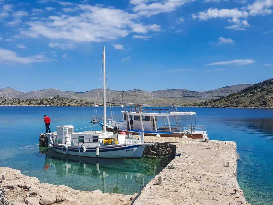 bateau d'ivan dans les Kornati