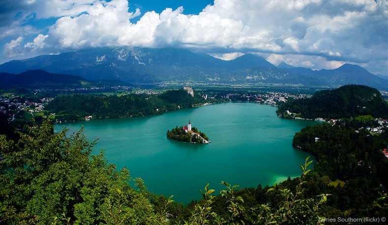 lac de bled vue des hauteurs