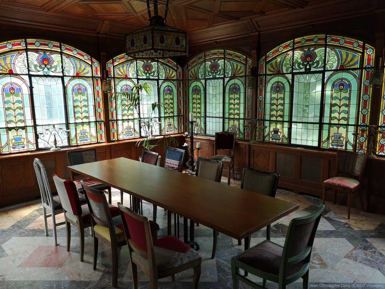 pièce du jardin d'hiver de la villa de l'écrivain Budapest