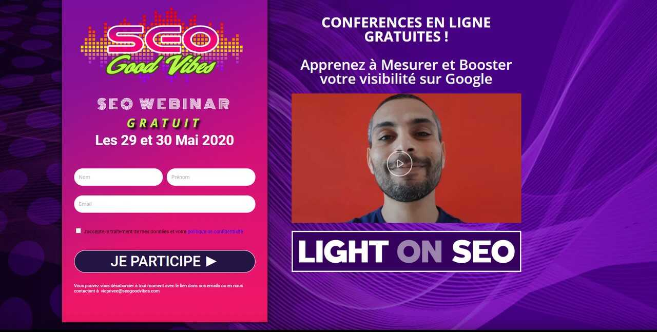 seo good vibes webinar seo on light