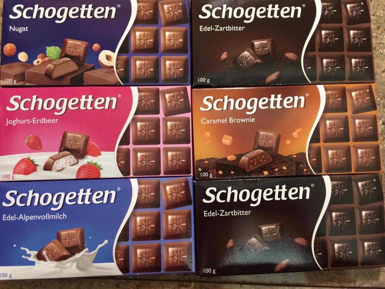 schogetten tablettes de chocolat allemand