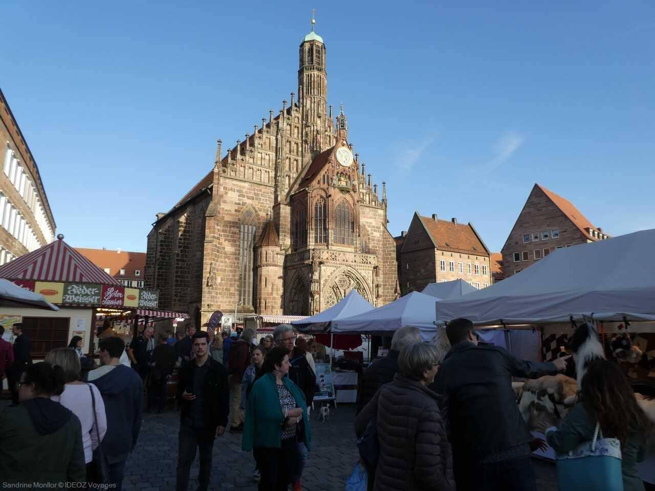 cathédrale de style gothique allemand à Nuremberg