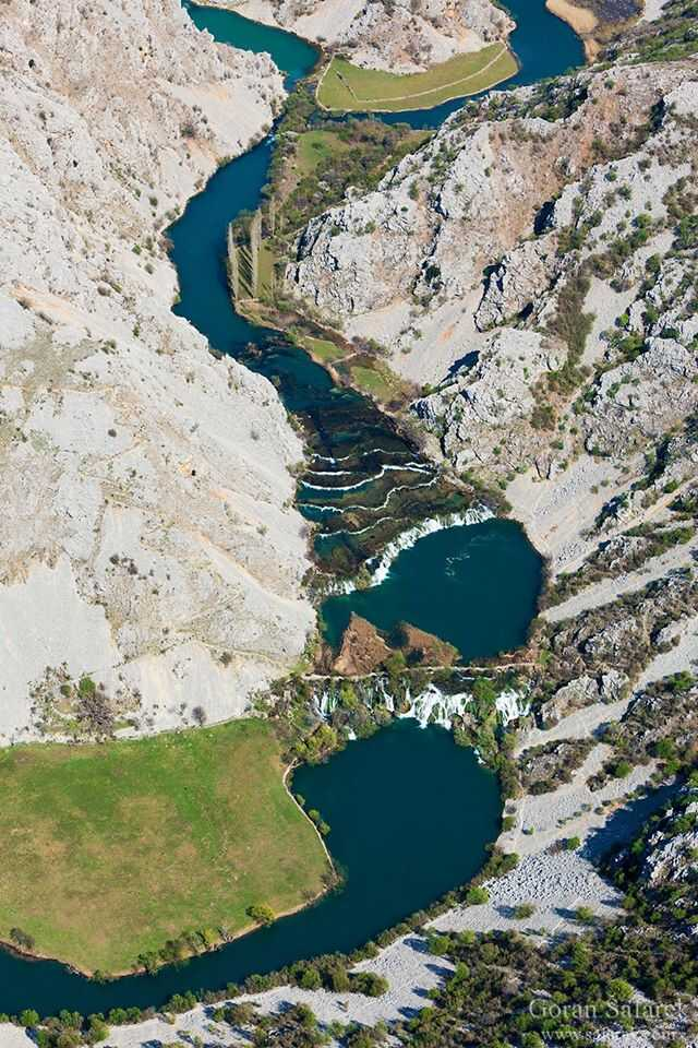 chutes de la rivière Zrmanja slapovi zrmanje