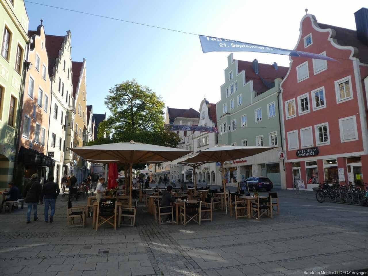 rue commerciale principale dans la vieille ville d'Ingolstadt