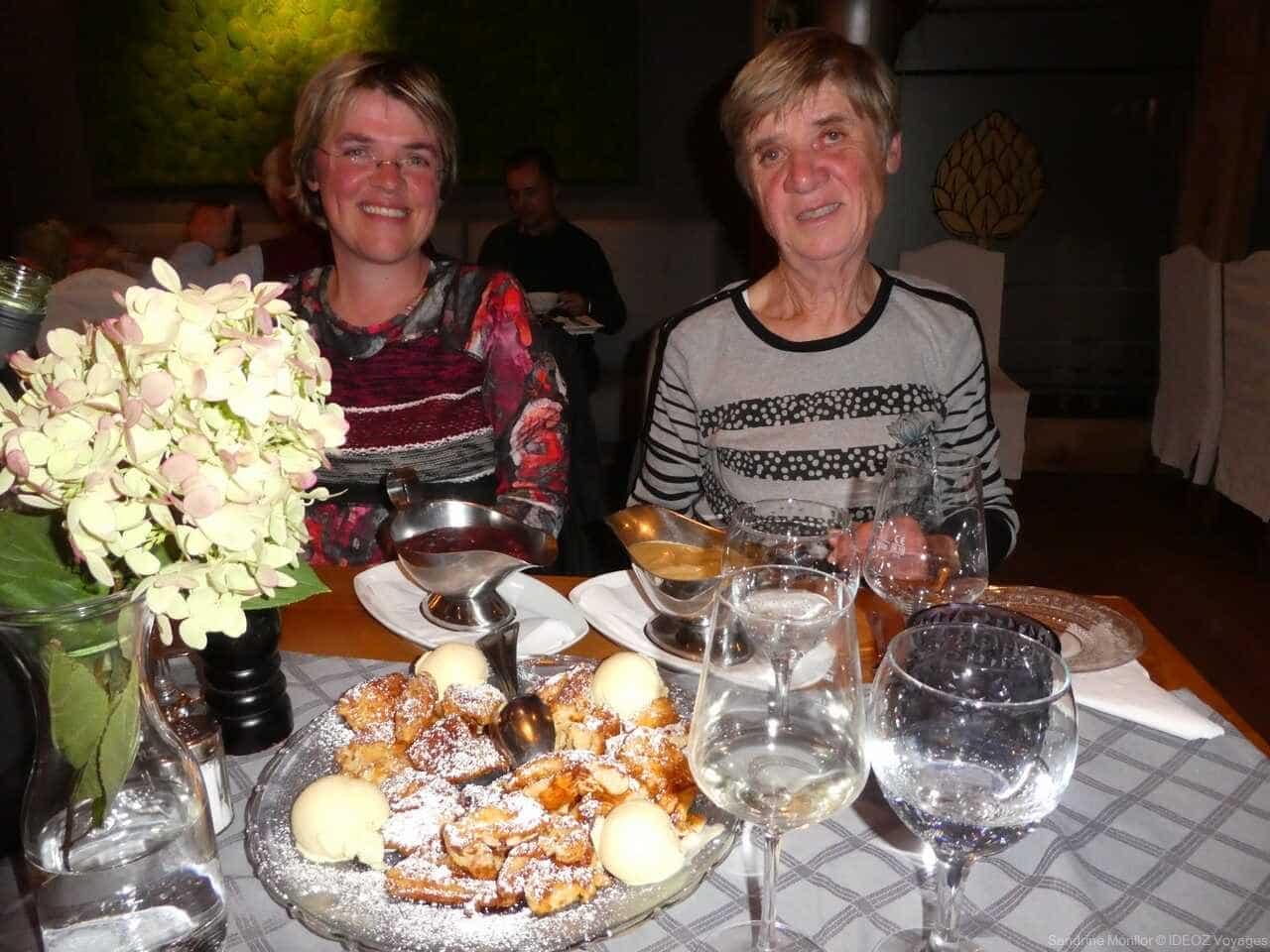 Restaurant Hummel sandrine monllor face au Kaiserschmarren impérial et délicieux