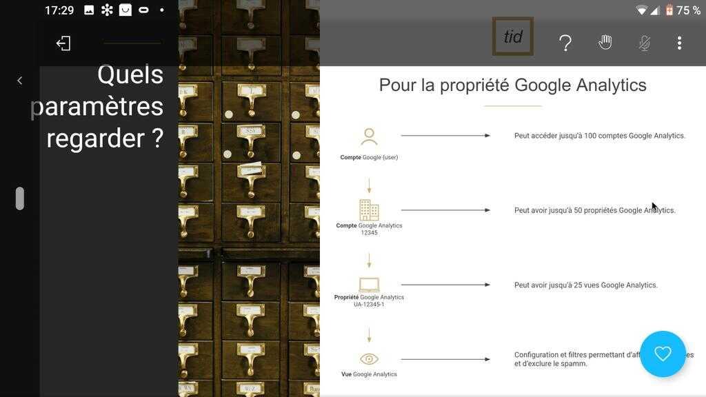 propriété google analytics