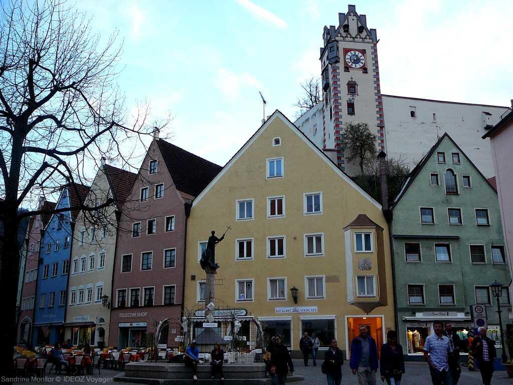 place centrale de Füssen en souabe bavaroise