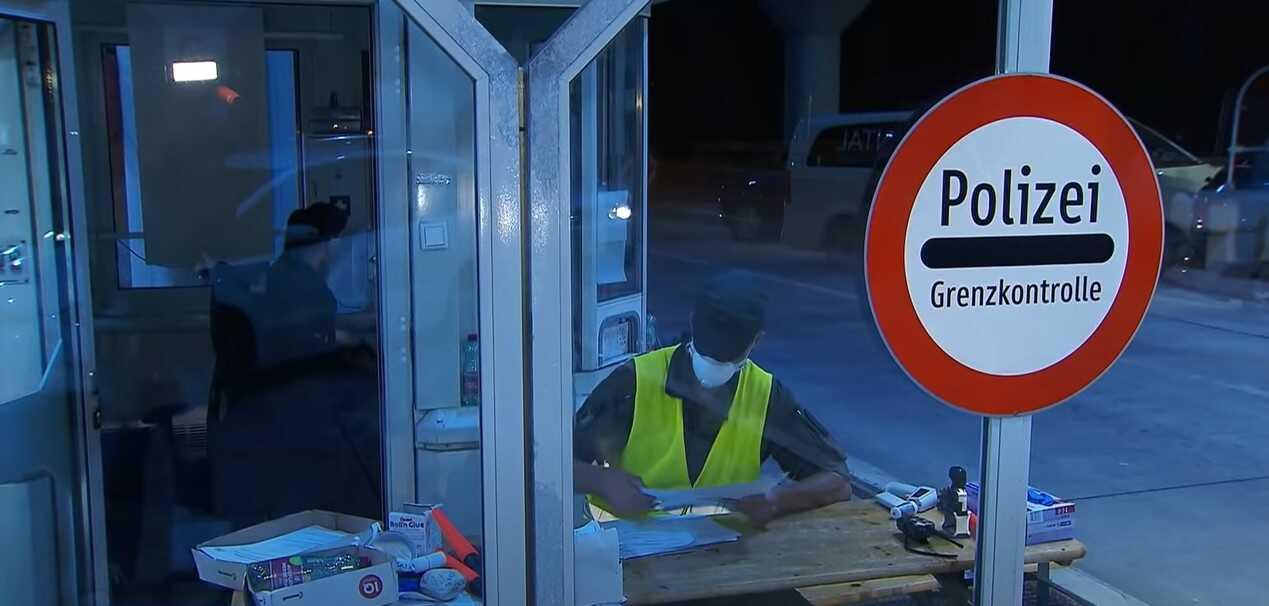 contrôle aux douanes en Autriche a cause de l'épidémie de coronavirus