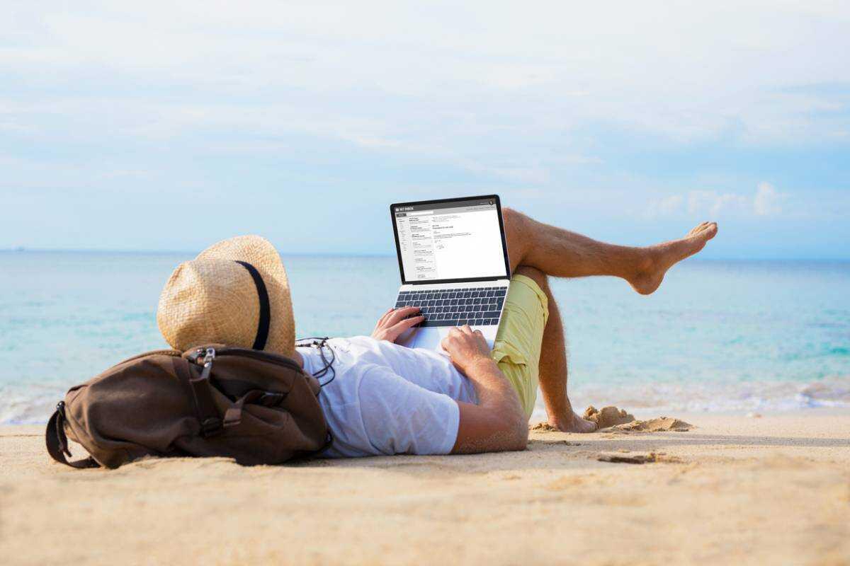 voyageur nomade nouvelles technologies en vacances