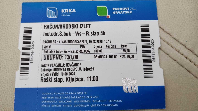 Ticket pour l'excursion entre skradinski buk et roski slap