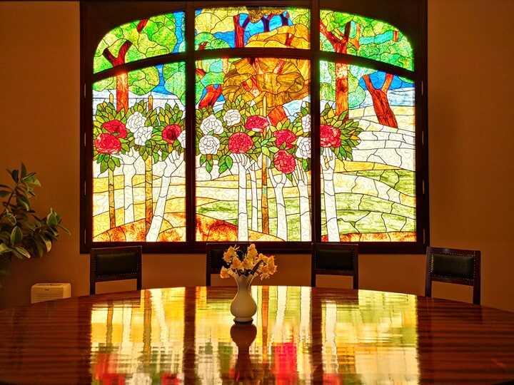 Kaposvar vitrail salle à manger Andràssy