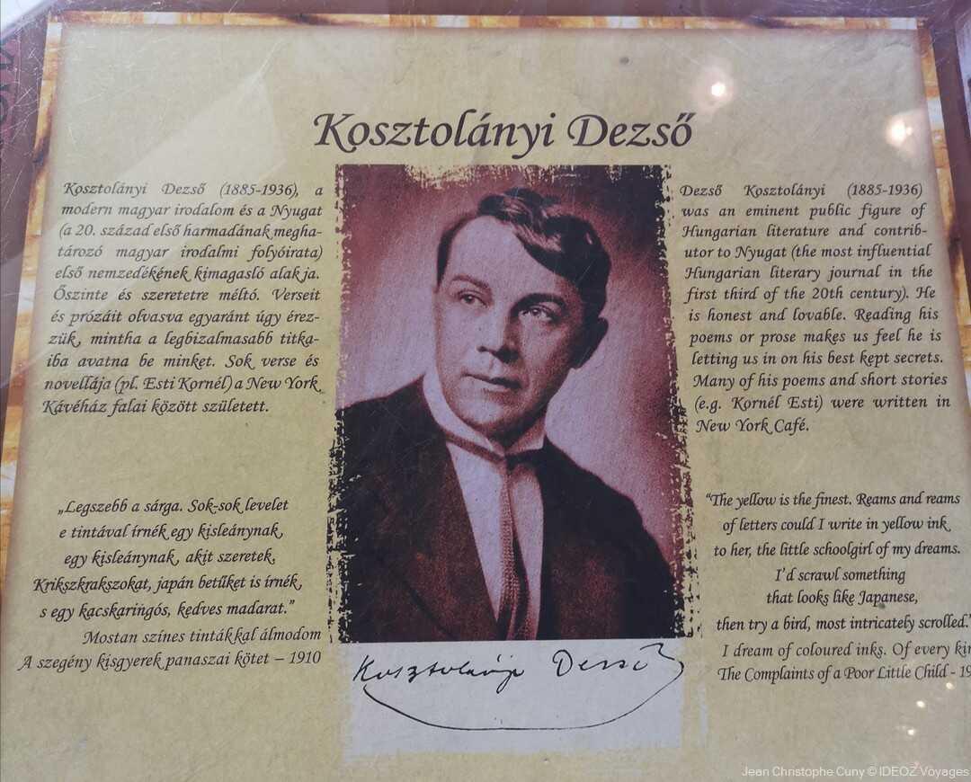 Kosztolanyi Dezso poète écrivain hongrois, critique littéraire, journaliste et traducteur