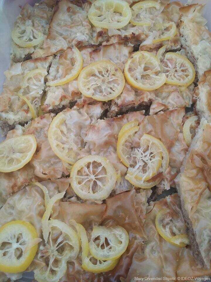 baklava croate au citron dessert de Slavonie
