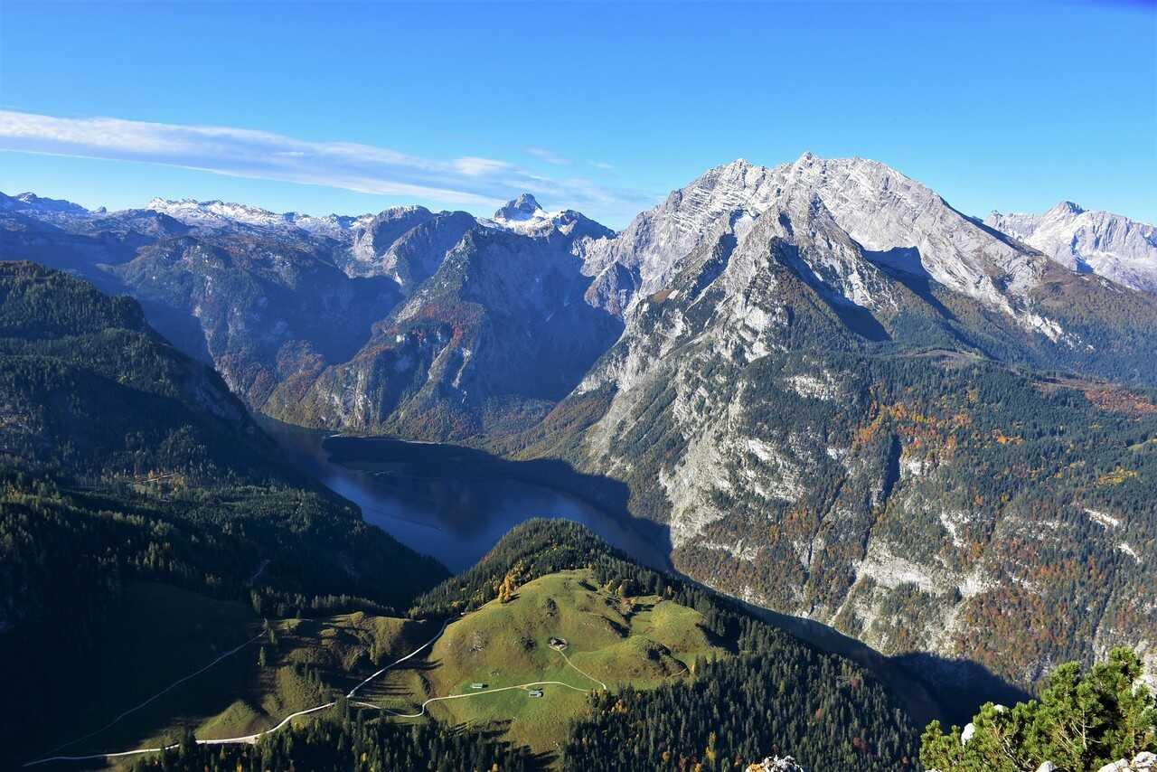 königssee depuis le jenner et le mont watzman