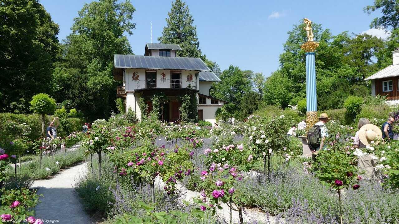 maison de louis II de bavière sur l'ile aux roses sur le lac starnberg