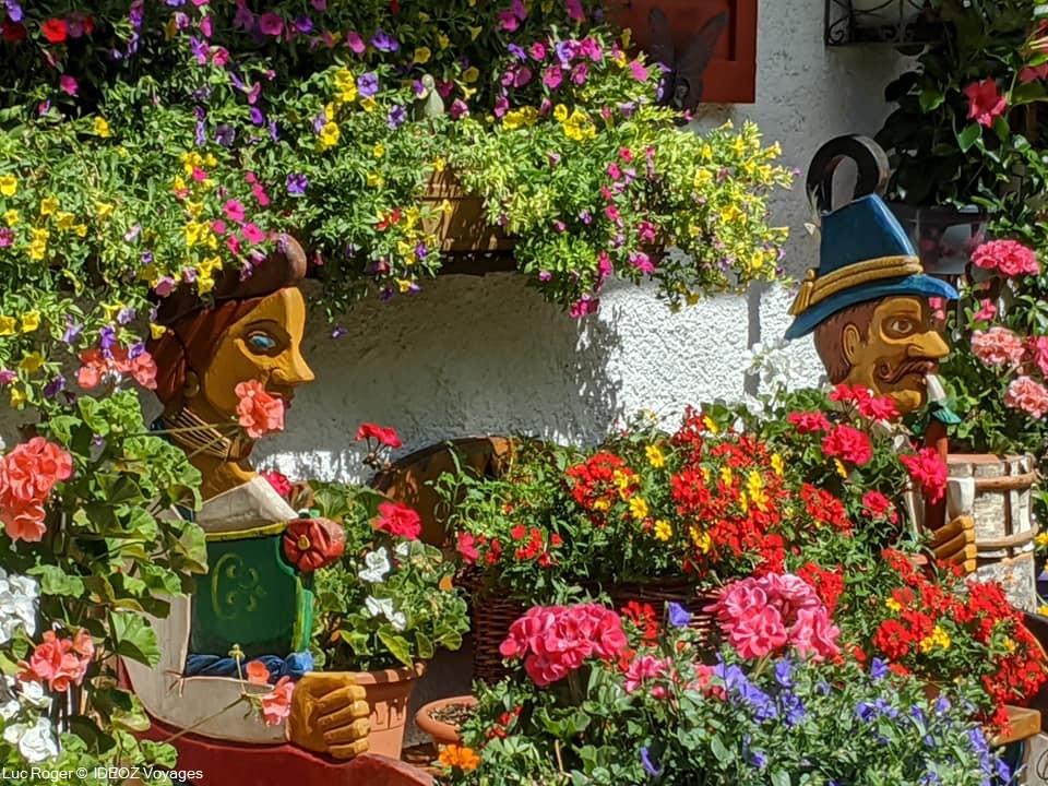 mittenwald en fleurs en été