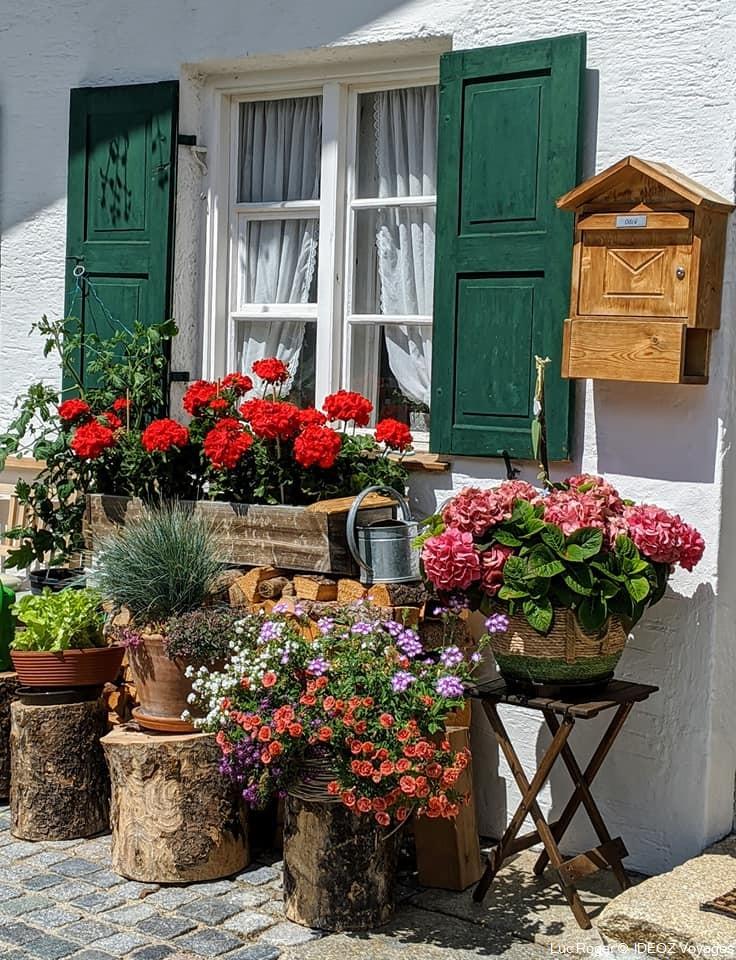 mittenwald maison fleurie en haute baviere