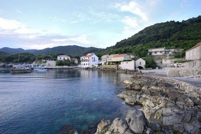 village de kozarica sur l'île de mljet appartements de la famille Cumbelic