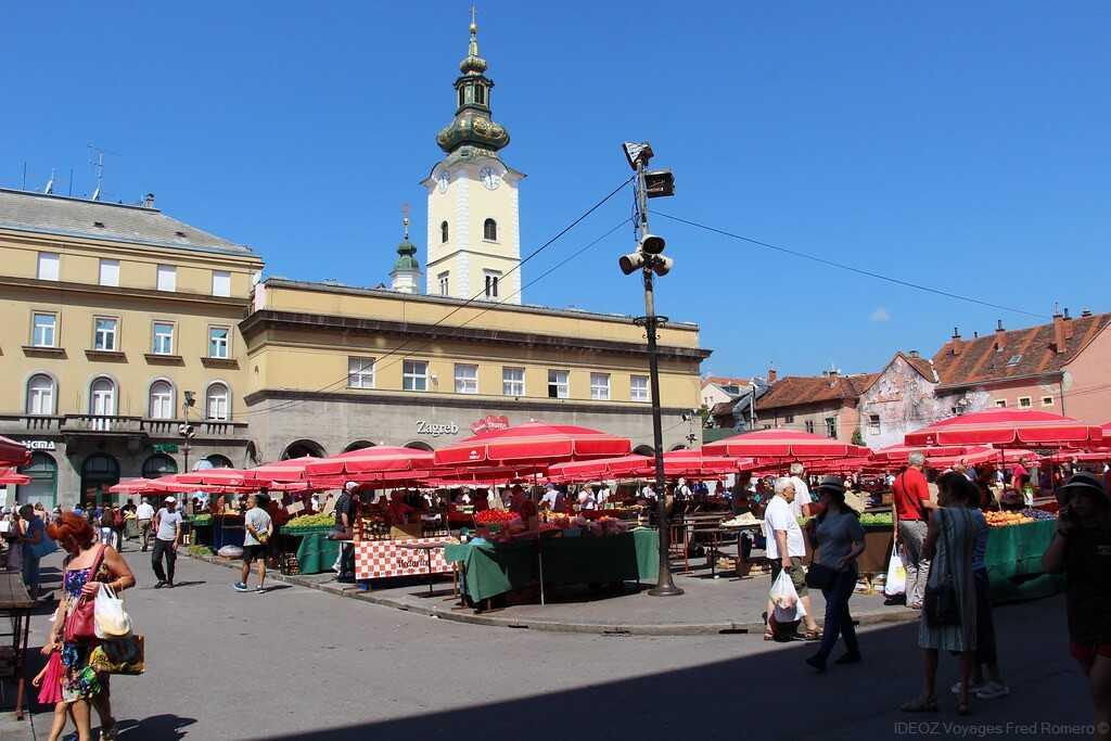 Marché central de Zagreb Tržnica Dolac