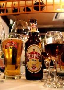 Pivo ozujsko Bière croate blonde produite à zagreb