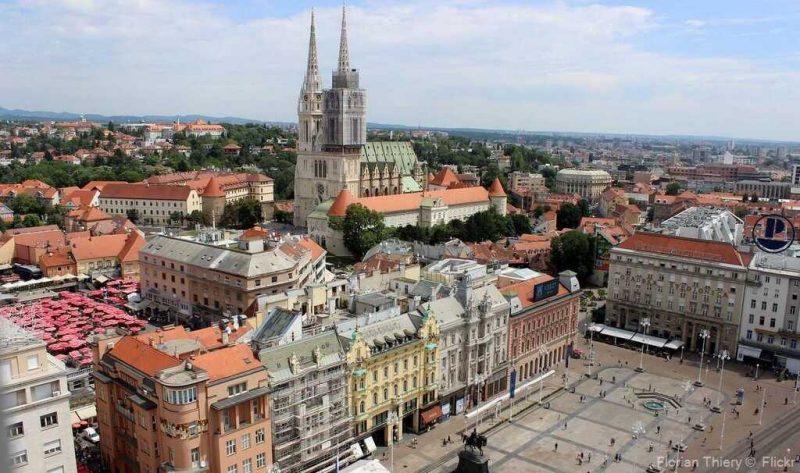 Zagreb basse ville place jan belacic