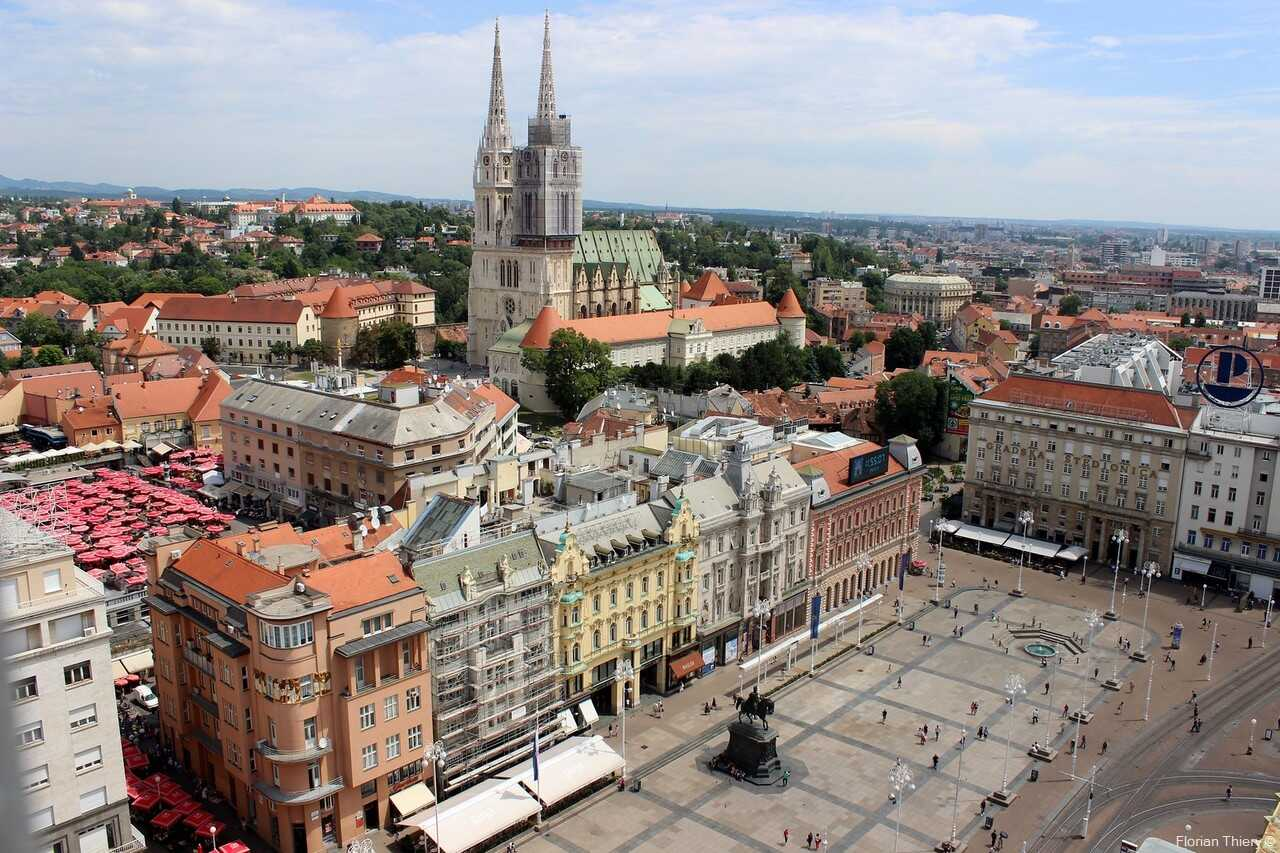 Basse ville de Zagreb place jan belacic et kaptol