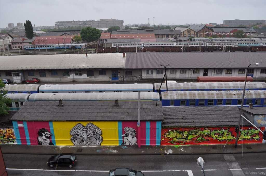 ancien dépot de trains à Ulica kneza Branimira grafitis