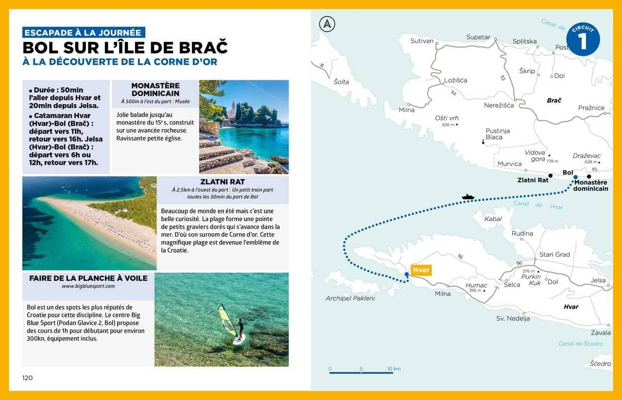 excursion d'une journée à brac guide simplissime croatie